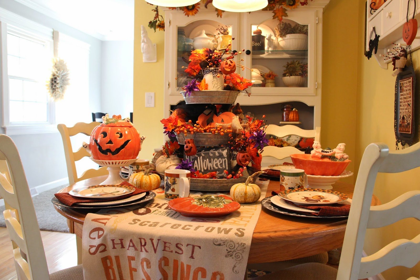 """Decorate your cabinets for a """"scary"""" Halloween! Cabinet Project - 1"""