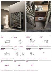 Light Luxury Metal Frame Wood Cabinet Barrel Four-drawer Cabinet KP-LS-0003 Cabinet Project - 7