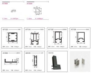 Light Luxury Aluminium Framed Wood Panelled Glass Door Wardrobe KP-LW-0004 Cabinet Project - 10