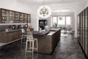 European Style Flat-Front Kitchen Cabinet KP-KC-0004 Cabinet Project - 16