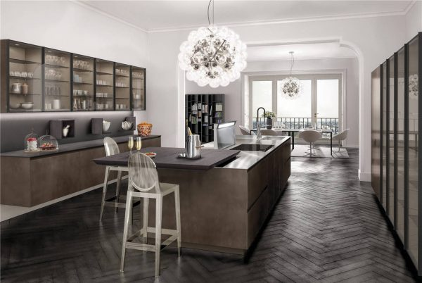 European Style Flat-Front Kitchen Cabinet KP-KC-0004 Cabinet Project - 11