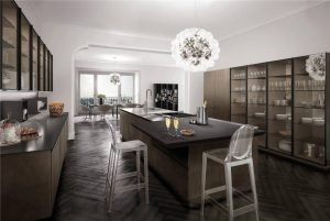 European Style Flat-Front Kitchen Cabinet KP-KC-0004 Cabinet Project - 17