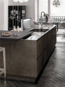 European Style Flat-Front Kitchen Cabinet KP-KC-0004 Cabinet Project - 19