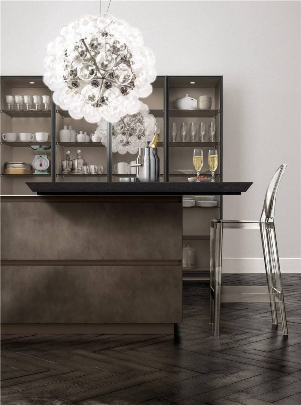 European Style Flat-Front Kitchen Cabinet KP-KC-0004 Cabinet Project - 13