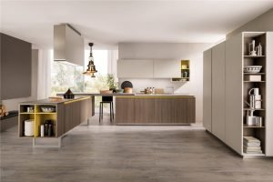 Flat-Front European Style Frameless Kitchen Cabinet KP-KC-0005 Cabinet Project - 14