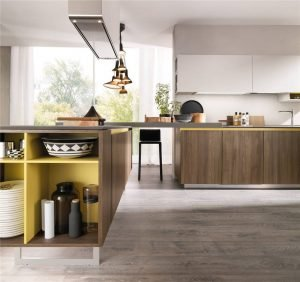 Flat-Front European Style Frameless Kitchen Cabinet KP-KC-0005 Cabinet Project - 15