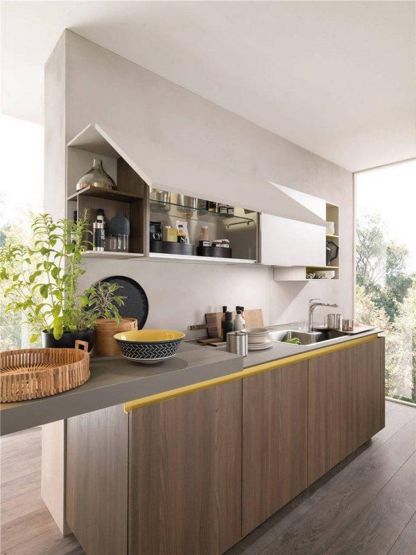 Flat-Front European Style Frameless Kitchen Cabinet KP-KC-0005 Cabinet Project - 12