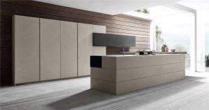 خزانة تصميم المطبخ على الطراز الأوروبي المسطحة KP-KC-0007 مشروع الخزانة - 12
