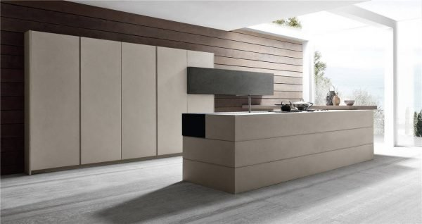 خزانة تصميم المطبخ على الطراز الأوروبي المسطحة KP-KC-0007 مشروع الخزانة - 9