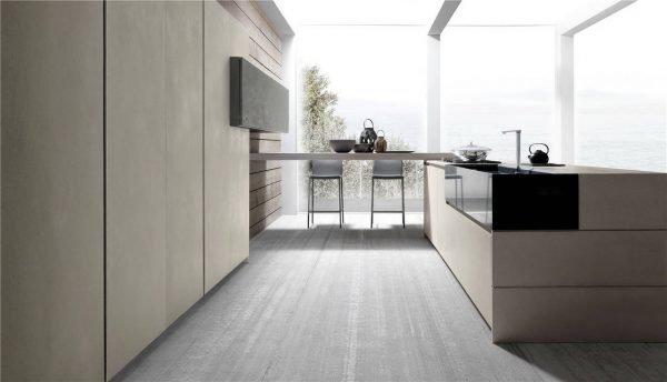 خزانة المطبخ ذات الطراز الأوروبي المسطحة KP-KC-0007 مشروع الخزانة - 8
