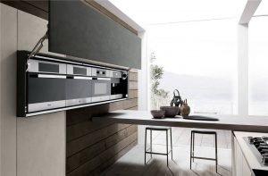 خزانة تصميم المطبخ على الطراز الأوروبي المسطحة KP-KC-0007 مشروع الخزانة - 10