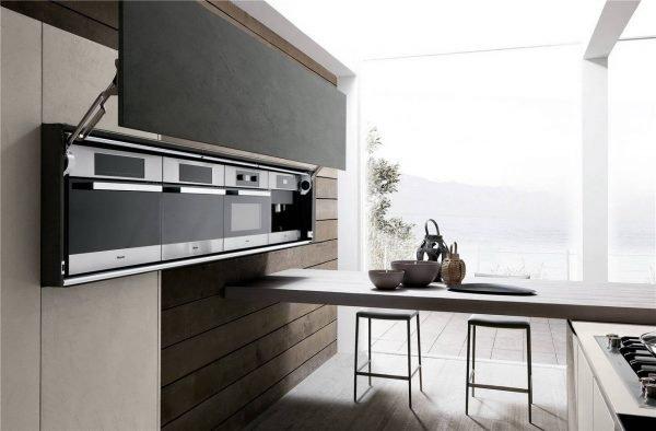 خزانة المطبخ ذات الطراز الأوروبي المسطحة KP-KC-0007 مشروع الخزانة - 7