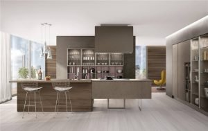 Flat-Front Modern Cabinet Styles Kitchen Cabinet KP-KC-0006 Cabinet Project - 13
