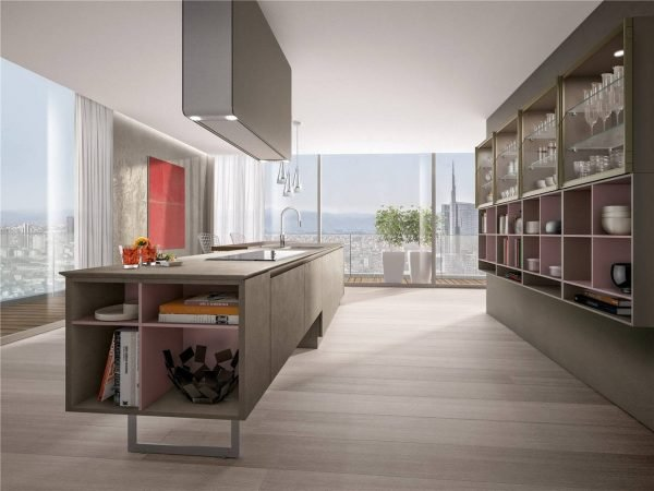 Flat-Front Modern Cabinet Styles Kitchen Cabinet KP-KC-0006 Cabinet Project - 10
