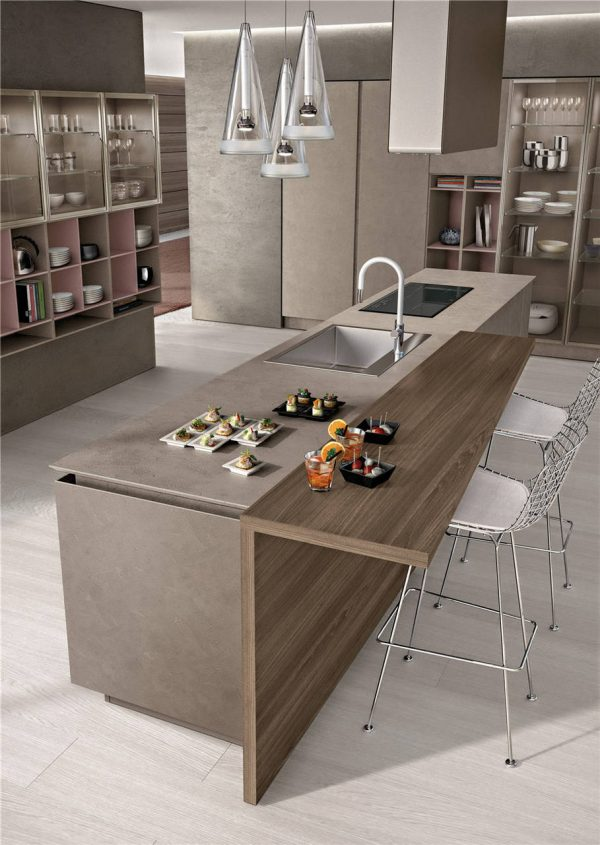 Flat-Front Modern Cabinet Styles Kitchen Cabinet KP-KC-0006 Cabinet Project - 11