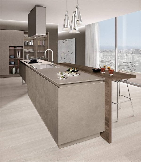 Flat-Front Modern Cabinet Styles Kitchen Cabinet KP-KC-0006 Cabinet Project - 12