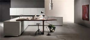 Flat-Front Modern Style Kitchen Cabinets KP-KC-0008 Cabinet Project - 7