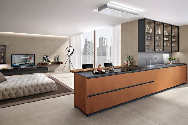 Modern Cabinet Door Styles Flat-Front Kitchen Cabinet KP-KC-0003 Cabinet Project - 1