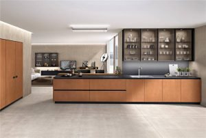 Modern Cabinet Door Styles Flat-Front Kitchen Cabinet KP-KC-0003 Cabinet Project - 9