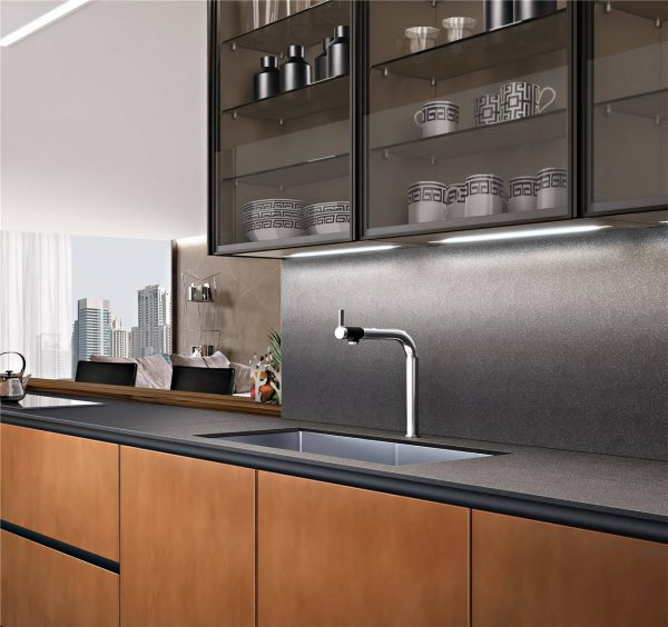 Modern Cabinet Door Styles Flat-Front Kitchen Cabinet KP-KC-0003 Cabinet Project - 4