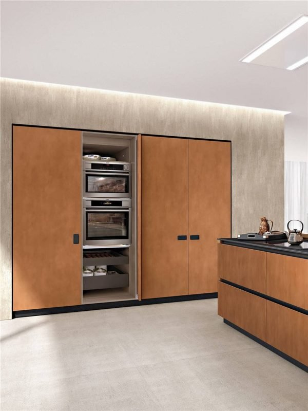 Modern Cabinet Door Styles Flat-Front Kitchen Cabinet KP-KC-0003 Cabinet Project - 6