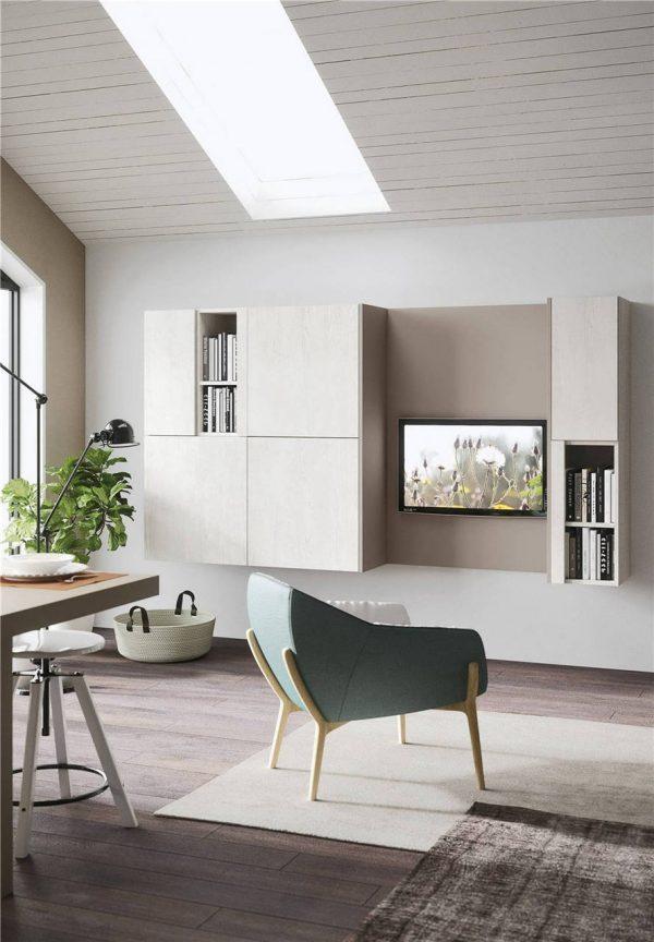 White Woodmark Flat-Front Custom Kitchen Cabinet Mixing Door Styles KP-KC-0001 Cabinet Project - 2