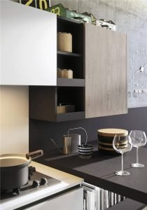 Woodmark Mixing Cabinet Door Style Flat-Front Kitchen Cabinet KP-KC-0002 Cabinet Project - 14