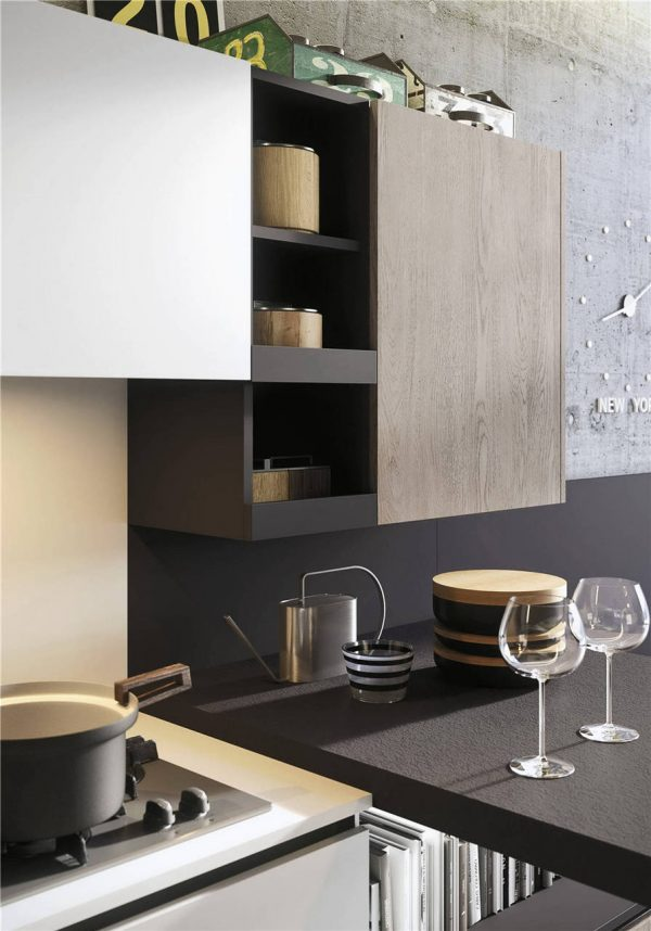 Woodmark Mixing Cabinet Door Style Flat-Front Kitchen Cabinet KP-KC-0002 Cabinet Project - 12
