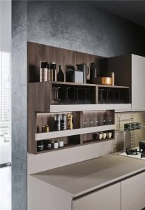 Woodmark Mixing Cabinet Door Style Flat-Front Kitchen Cabinet KP-KC-0002 Cabinet Project - 16