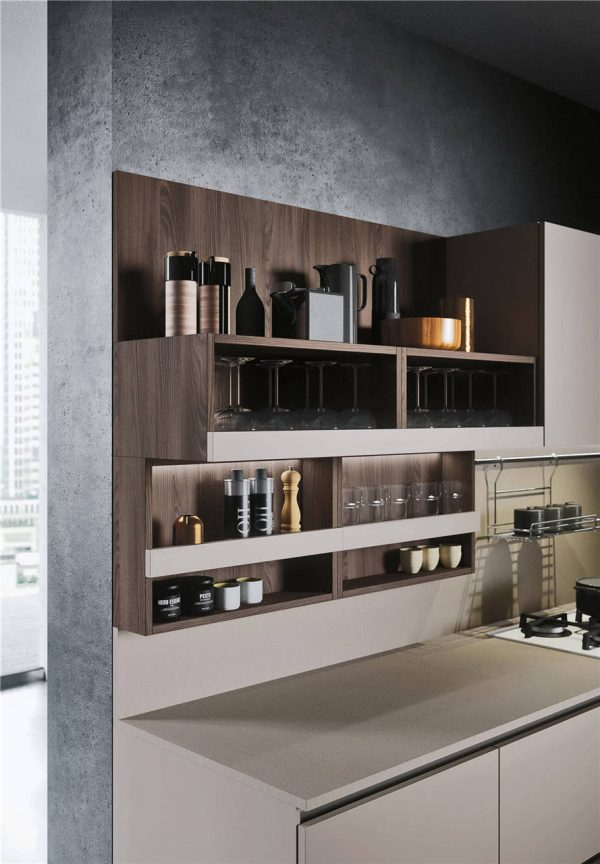Woodmark Mixing Cabinet Door Style Flat-Front Kitchen Cabinet KP-KC-0002 Cabinet Project - 11
