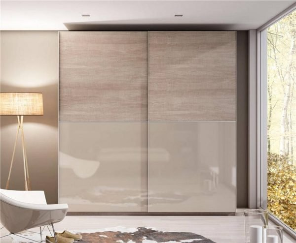 Light Luxury 18mm Aluminium Framed Glass Wardrobe Sliding Doors KP-LW-0001 Cabinet Project - 1
