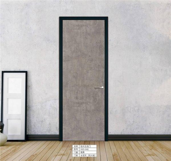 Light Luxury Aluminum Frame MDF Eco Door KP-LD-0003 Cabinet Project - 1