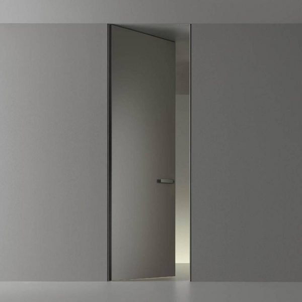 Light Luxury Invisible MDF Doors With Aluminium Frames KP-LD-0004 Cabinet Project - 1