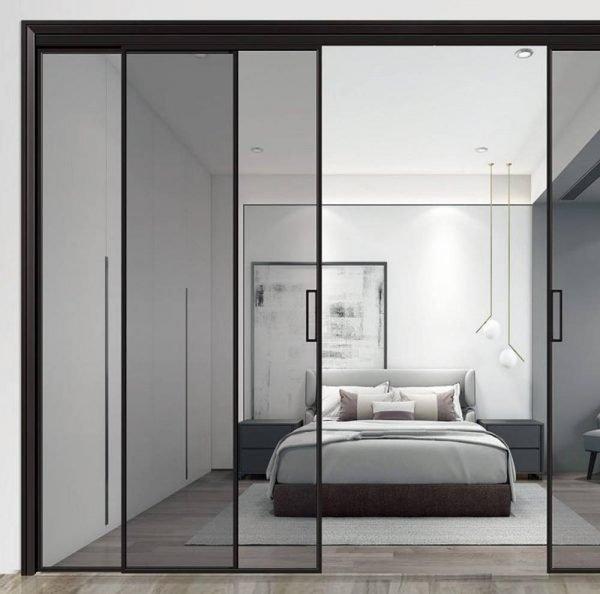 Light Luxury Magnetic Levitation Sliding Glass Doors Metal-Framed KP-LD-0002 Cabinet Project - 1