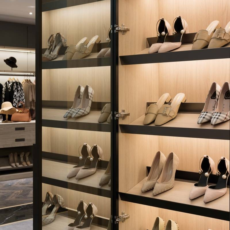 The basics of open closet shelving organization Cabinet Project - 4