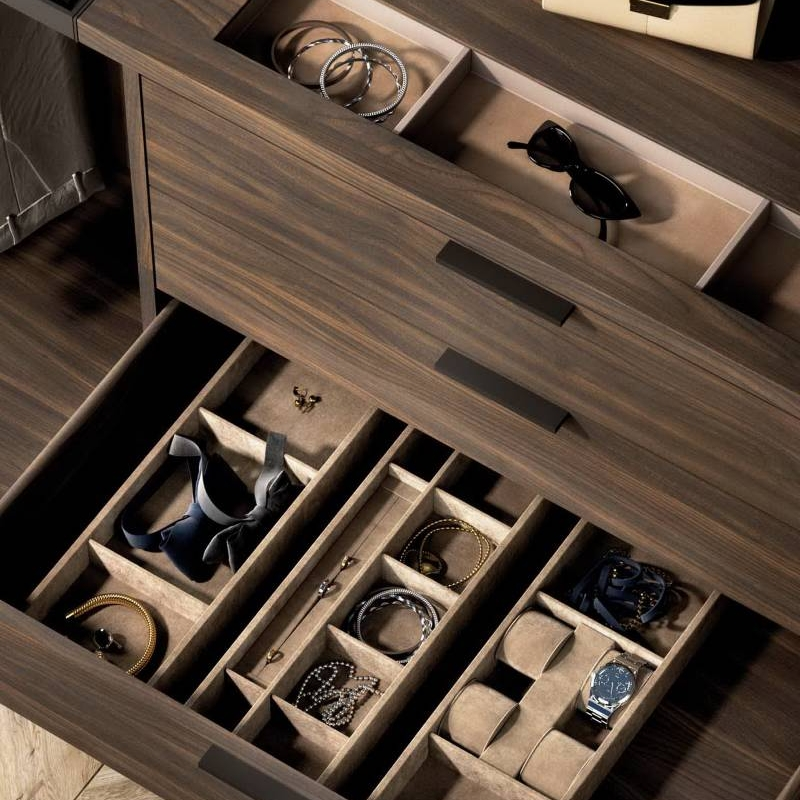 Laminate Selection For Various Types Of Open Wardrobe Design Cabinet Project - 4