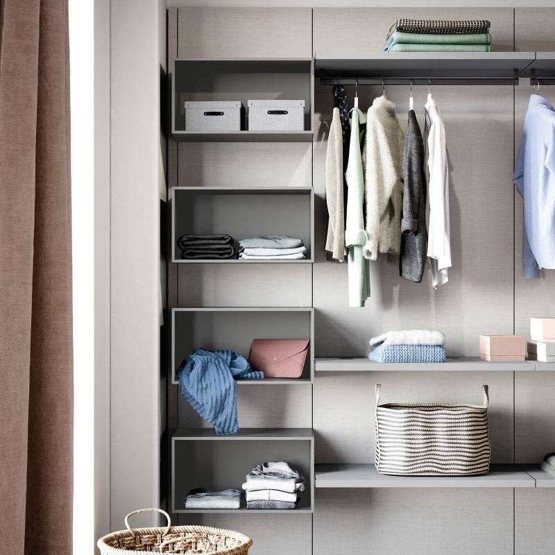 DIY open wardrobe closet organizing piece by piece Cabinet Project - 7