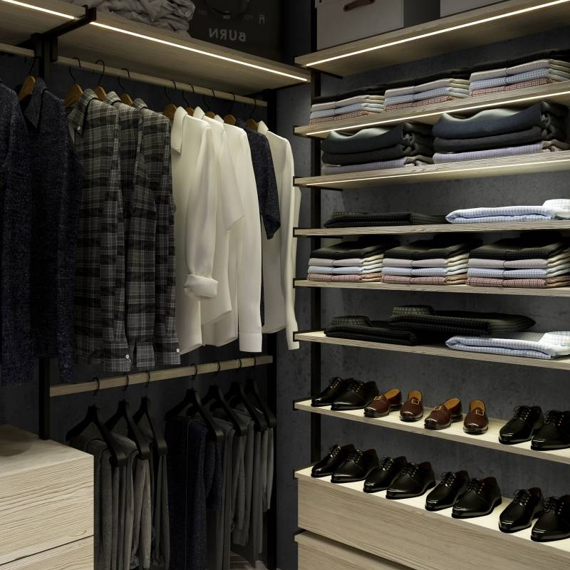 How to Organize a Cluttered Open Closet Cabinet Project - 4