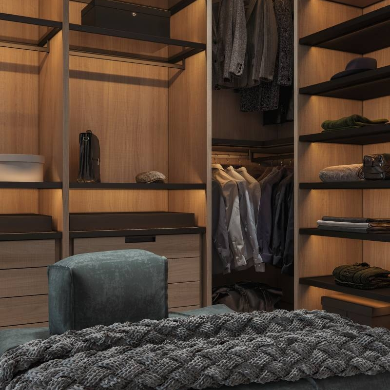 How To Organize Your Open Closet Or Cloakroom Cabinet Project - 3