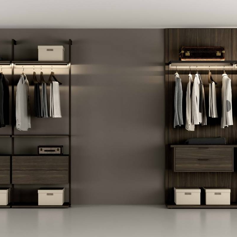 Change to aluminum frame open sliding closet in July Cabinet Project - 3