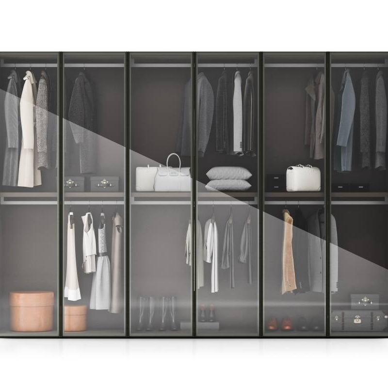 Change to aluminum frame open sliding closet in July Cabinet Project - 2