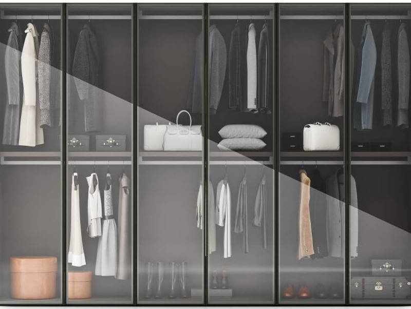 Change to aluminum frame open sliding closet in July Cabinet Project - 1