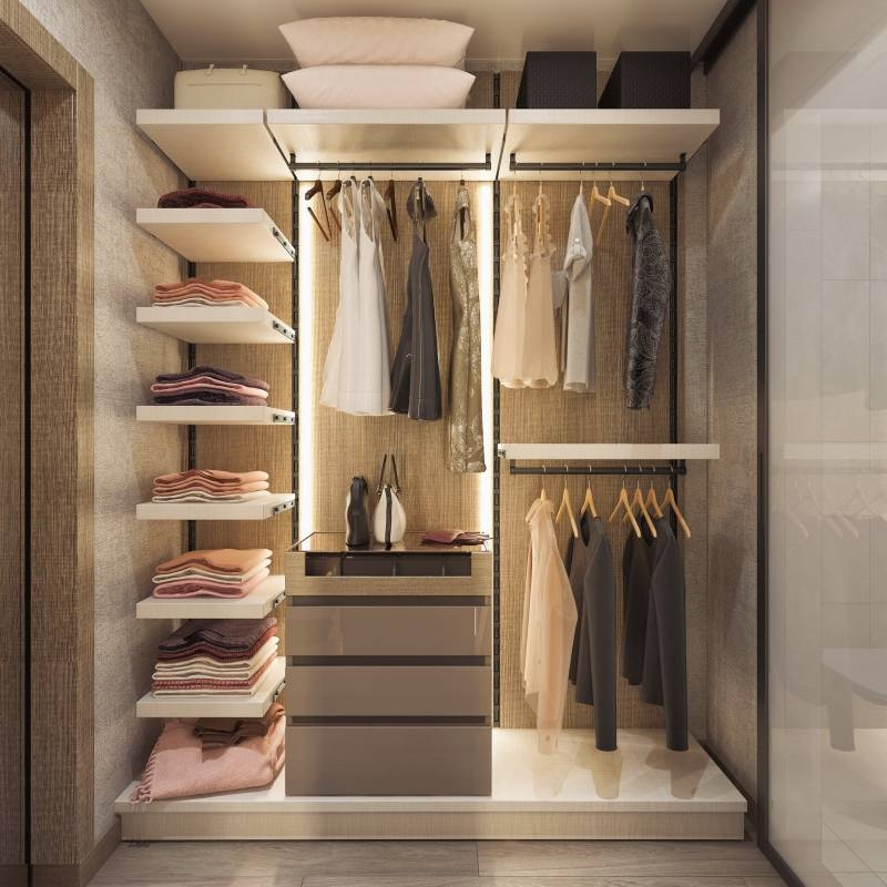 Change to aluminum frame open sliding closet in July Cabinet Project - 5