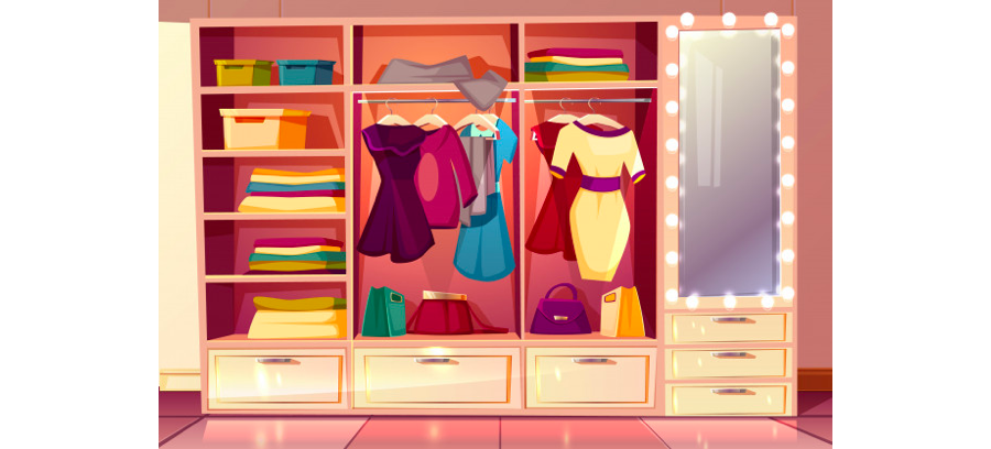 The important design of women's wardrobe Cabinet Project - 4