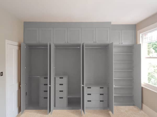 Custom-made wardrobes Designs Intended for Installed Bedroom Furniture Cabinet Project - 2